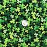100% Cotton Fabric Timeless Treasures Clovers Patriotic Ireland Leprechaun Black