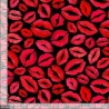 100% Cotton Fabric Timeless Treasures Lips Kiss Valentine Love Kissing Lip