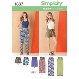 Simplicity Misses' Pants & Skirts Fabric Sewing Pattern 1887