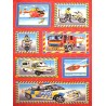 100% Cotton Fabric Nutex Emergency Services Police Ambulance Fire Engine Panel
