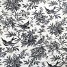 100% Cotton Fabric John Louden Swallow Bird finch Animals Wildlife Flower Floral