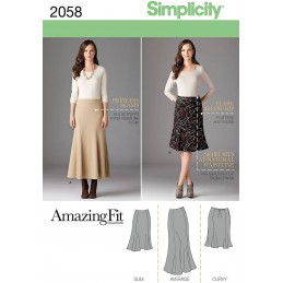 Simplicity Sewing Pattern 2058 Misses' & Plus Size Amazing Fit Skirt Fabric