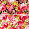 100% Cotton Poplin Fabric Rose & Hubble Clifton Avenue Summer Floral