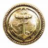 1 x 22mm Nautical Sailor Anchor Faced Craft Shank Buttons