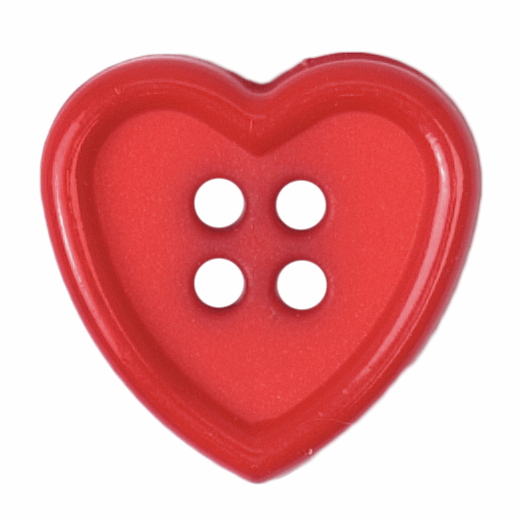 1 x 15mm Bright Red Heart...