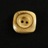 1 x Square Varnished Wooden Buttons 2 Hole