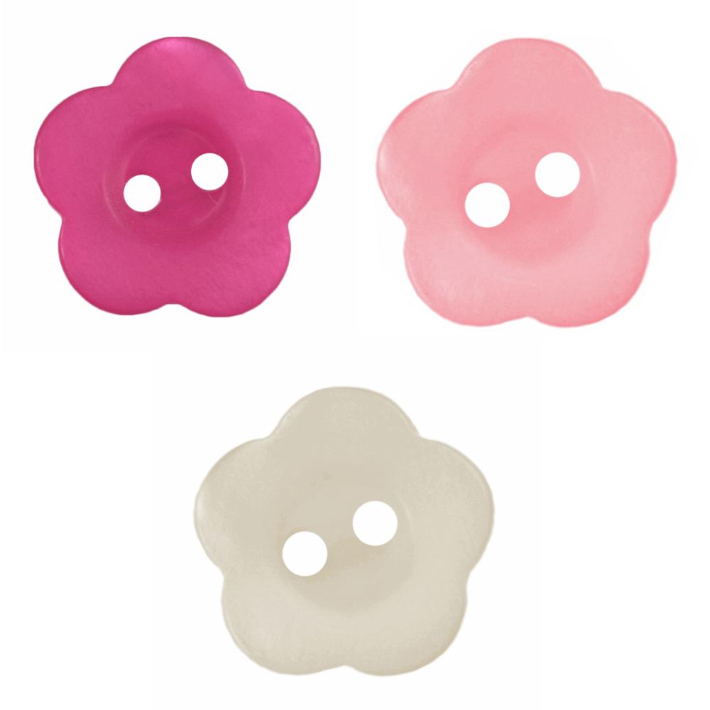 1 x 18mm Pastel Flower Head...