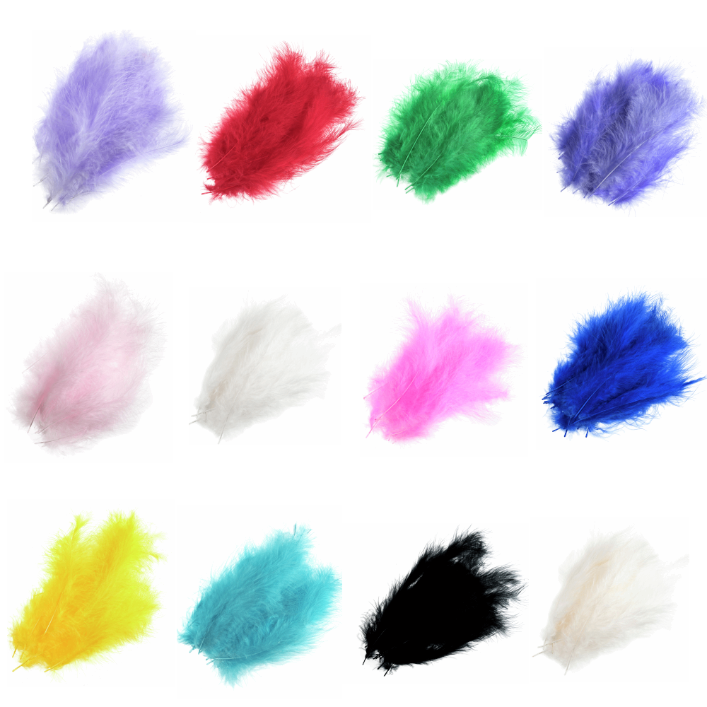 24 x Marabou Feathers By...