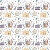 100% Cotton Digital Fabric Seamstress Haberdashery Scissors Crafty 140cm Wide