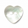 1 x Pearl Effect Heart Shell Buttons 2 Hole