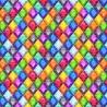100% Cotton Digital Fabric Rainbow Jewels Diamond Shapes Crafty 140cm Wide