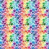 100% Cotton Digital Fabric Rainbow Love Hearts Valentines Crafty 140cm Wide