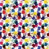 100% Cotton Digital Fabric Paint Hand Prints Art Children Crafty 140cm Wide