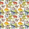 100% Cotton Digital Fabric Dinosaurs Jurassic Dino T-Rex Crafty 140cm Wide
