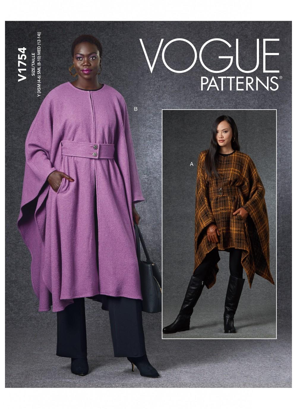Vogue Sewing Pattern V1754...