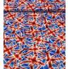 100% Cotton Fabric Nutex UK Union Jack Patriotic United Kingdom Flags