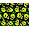 Polycotton Fabric Halloween Skulls Scary Toxic Blood Covered Gruesome Skull
