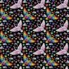 100% Cotton Digital Fabric Mosaic Swan Rainbow Pride Crafty 140cm Wide