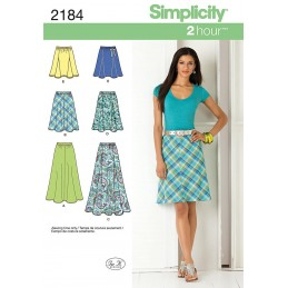 Misses' Skirts Simplicity Fabric Sewing Pattern 2184