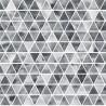 100% Cotton Poplin Fabric Crafty Cottons Geometric Triangles Bunting Tonal