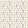 100% Cotton Digital Fabric Little Johnny Animal ABC Alphabet Letters Kids
