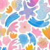 100% Cotton Digital Fabric Little Johnny Sea Shells Ocean Shell Beach