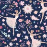100% Cotton Digital Fabric Little Johnny Floral Ballerina Flower Dancing Dancers