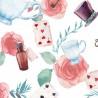 100% Cotton Digital Fabric Little Johnny Alice In Wonderland Tea Party Floral