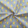 Polycotton Fabric Christmas Gingerbread Men Candy Canes Festive Sweet Treats