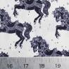 100% Cotton Digital Fabric Little Johnny Carousel Horses Pony Horse Fairground
