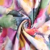 100% Viscose Digital Fabric Paint Splodge Palette Knife Art 140cm Wide