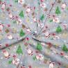 Polycotton Fabric Christmas Deer Santa Snowman Presents Gifts Festive Xmas Snow