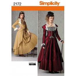 Simplicity Sewing Pattern 2172 Misses' Costume Steam Punk Vintage Historical