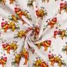 100% Cotton Digital Fabric Christmas Sloths Xmas Lights Crafty