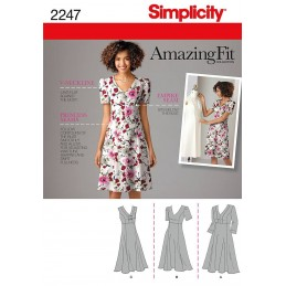 Simplicity Misses' & Plus Size Amazing Fit Dresses Sewing Pattern 2247