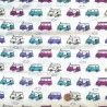 100% Cotton Fabric Snoopy Camper Van Holiday Travel Adventure Kids Childrens