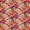 100% Cotton Fabric Tie Dye Mermaid Scales Shells Sea Ocean Fantasy 140cm Wide