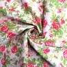 100% Cotton Poplin Fabric Rose Leaves Roses Floral Flower Duke Street