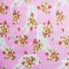 100% Cotton Poplin Fabric Paisley Floral Bunched Flower Teardrop Pillar Way