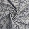 100% Cotton Poplin Fabric Geometric Stars Abstract Shapes Illusion