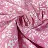 100% Cotton Poplin Fabric Floral Owl Bird Flowers Woodland Animals Leaves