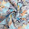 100% Cotton Poplin Fabric Geometric Stripy Triangles Stripes Shapes Illusion