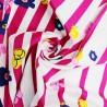 100% Cotton Poplin Fabric Floral Flower Pin Stripes Geometric Stripy