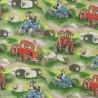100% Cotton Fabric Nutex Field Days Sheep Dogs Tractors Quad Bike Farm Animals