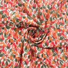 100% Cotton Lawn Fabric Berry Leaves Berries Festive Fruit Food Floral Flowers