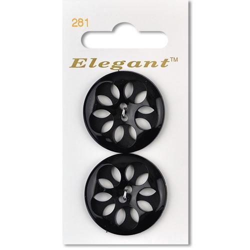 Sirdar Elegant Black Flower...