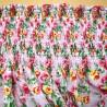 Preshirred Polycotton Fabric Summer Dress Material Petal Parade Rose Bunches