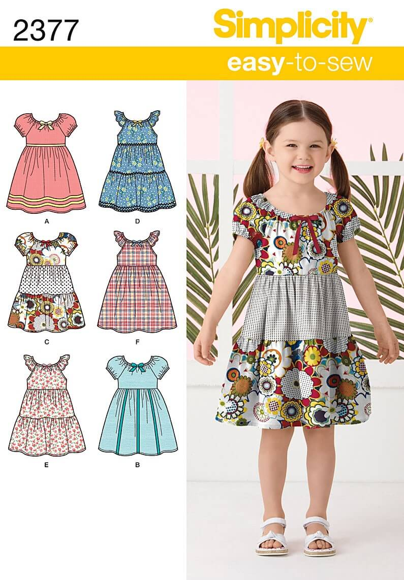Simplicity Sewing Patterns 2377 Child's Dresses Dress