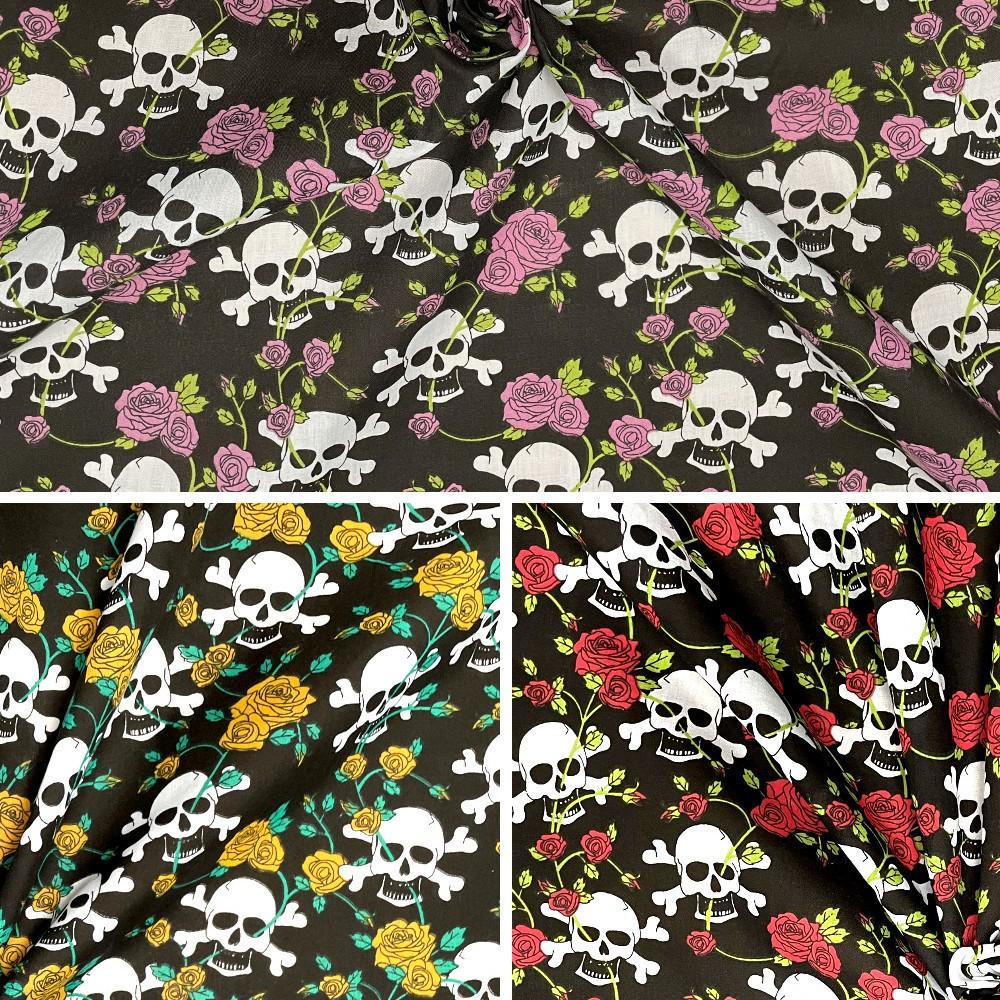Polycotton Fabric Skulls...