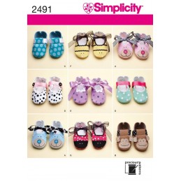 Crafts Babies And Toddlers Shoes Simplicity Craft Sewing Patterns 2491